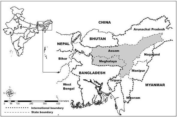States of Meghalaya and Asssam